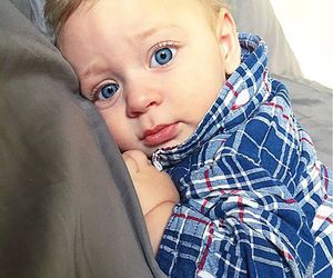 baby, blonde, and blue eyes image