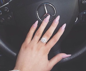 nails, ring, and mercedes image