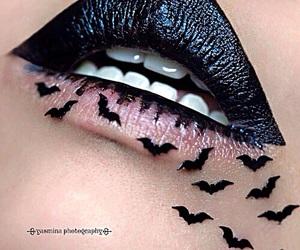 lips, black, and makeup image