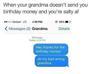funny, grandma, and money image
