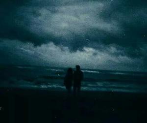 love, couple, and dark image