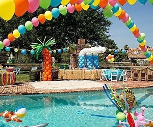 party and pool image