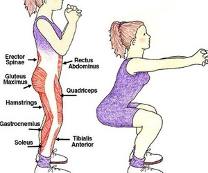 squats, workout, and sport image