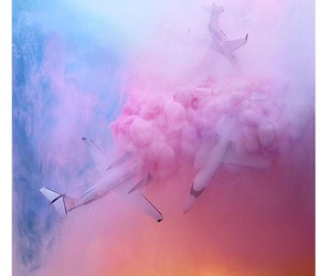 airplane, pink, and art image