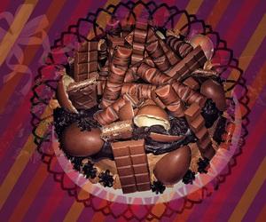 birthday, brown, and cake image
