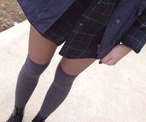 girl, legs, and grunge image