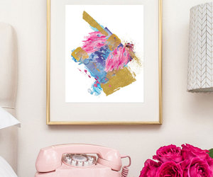 abstract, decor, and blue print image