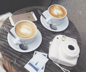 coffee, iphone, and camera image