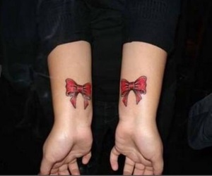 bow, tattoo, and cute image