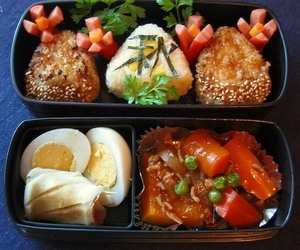 autumn, bento, and eat image