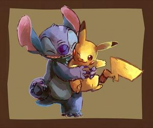 stitch, pikachu, and pokemon image