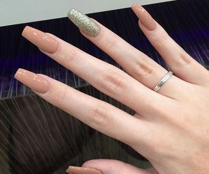 fingers, rings, and glitter image