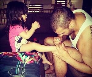 nails, baby, and dad image