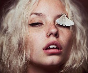 butterfly, beauty, and freckles image