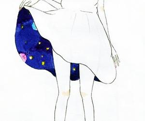 girl, dress, and art image