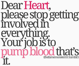 heart, quotes, and blood image