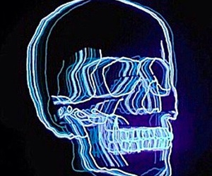 skull, light, and grunge image