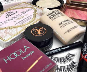 cosmetics, makeup, and love image