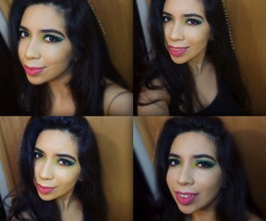 artistic, colorful, and colorful makeup image