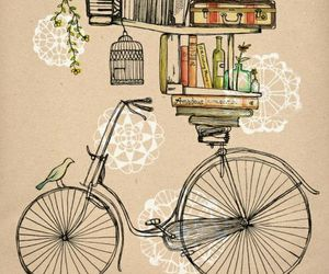 book, bike, and bicycle image