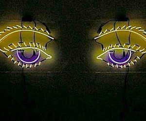 eyes, yellow, and light image
