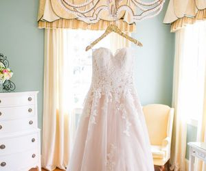 wedding dress, dress, and outfit image