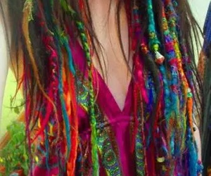 hair, dreads, and colors image