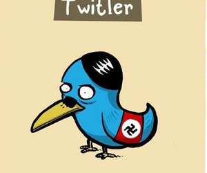 twitter, hitler, and funny image