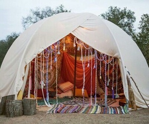 tent, boho, and hippie image