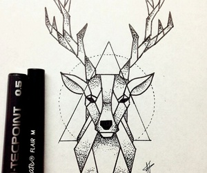 deer and drawing image