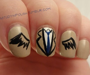 supernatural, castiel, and nails image