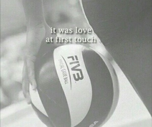 volleyball, pallavolo, and love image