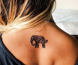 girl, little, and tatto image