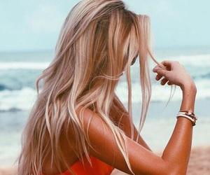 beach, blonde, and tanned image