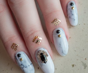 marble, nail art, and nails image