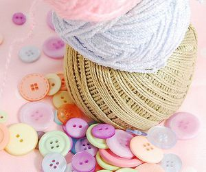 pastel and buttons image