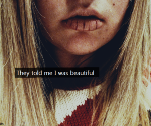 beautiful, girl, and text image