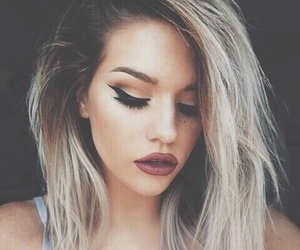 girl, makeup, and hair image