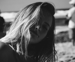 girl, black and white, and beautiful image
