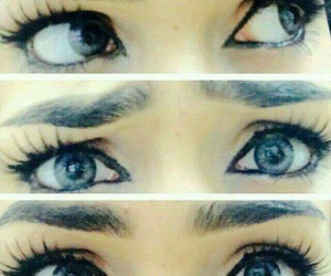 eyes, نايسِ, and شعر ملون image