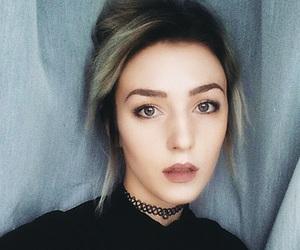 grey hair, polish girl, and eyebrows on point image