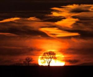 background, beautiful, and sunset image