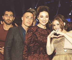 tyler hoechlin, holland roden, and crystal reed image