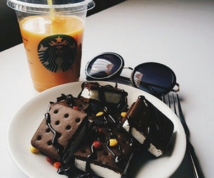 chocolate, food, and starbucks image