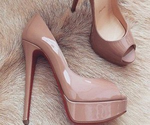heels, high heels, and shoe image