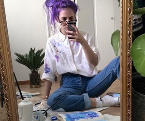 art, paint, and purple image