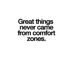 quote and comfort zone image