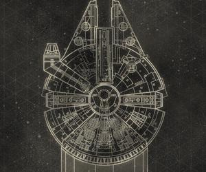 falcon, han solo, and star wars image