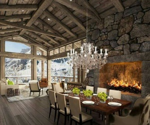 home and fireplace image
