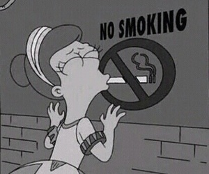 smoking, smoke, and simpsons image